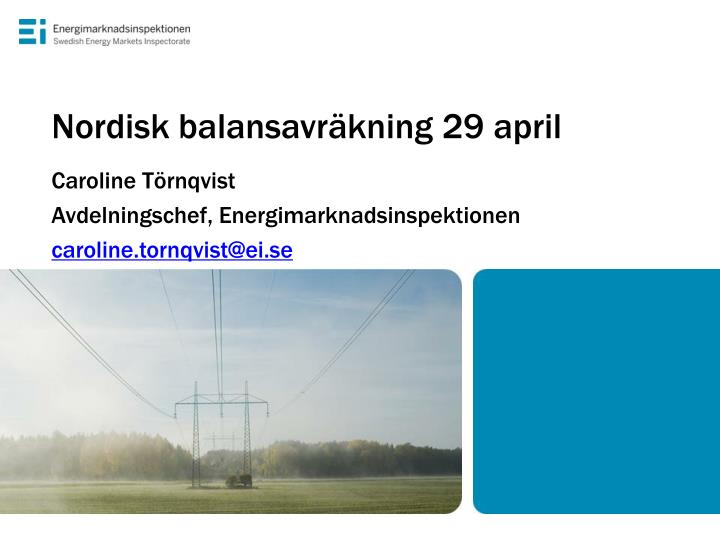 Nordisk balansavr kning 29 april