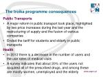 the troika programme consequences3
