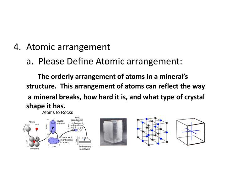 Atomic arrangement