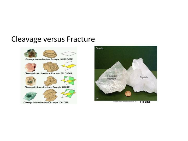 Cleavage versus Fracture