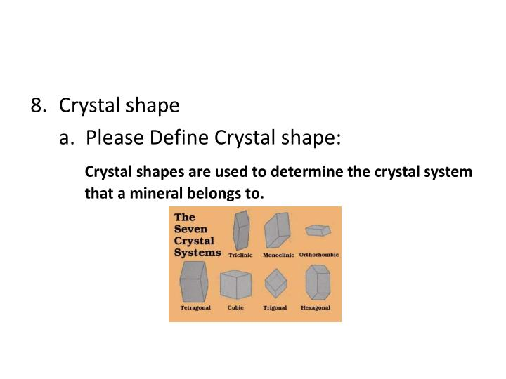 Crystal shape
