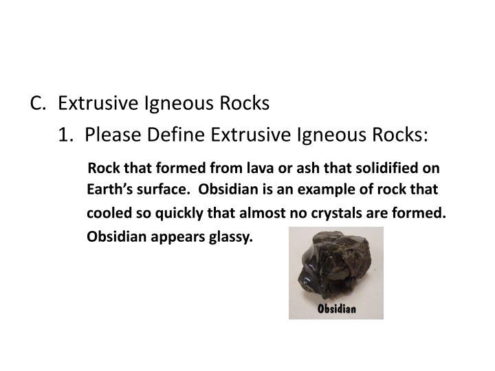 Extrusive Igneous Rocks