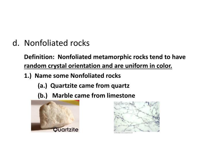 Nonfoliated