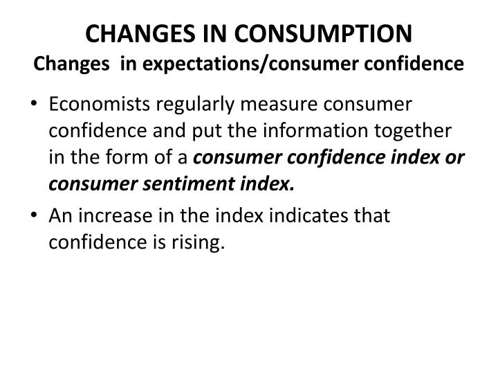CHANGES IN CONSUMPTION