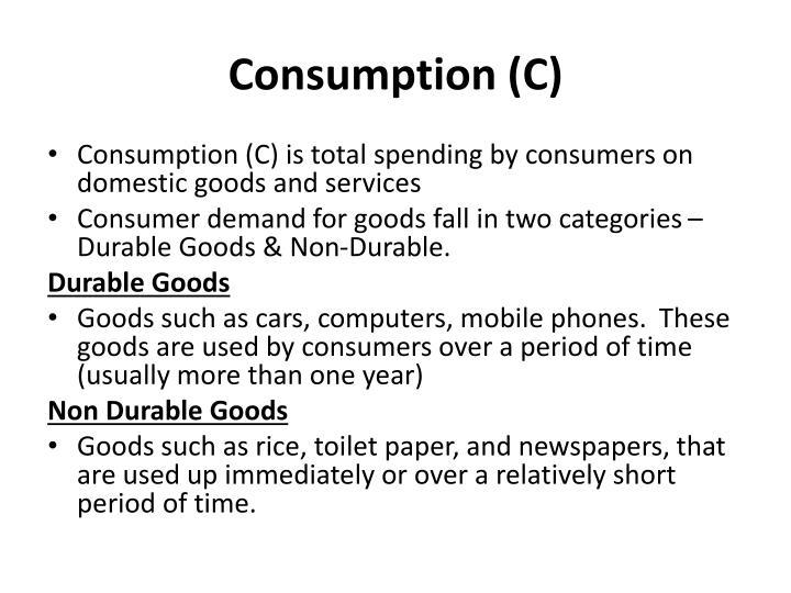 Consumption (C)