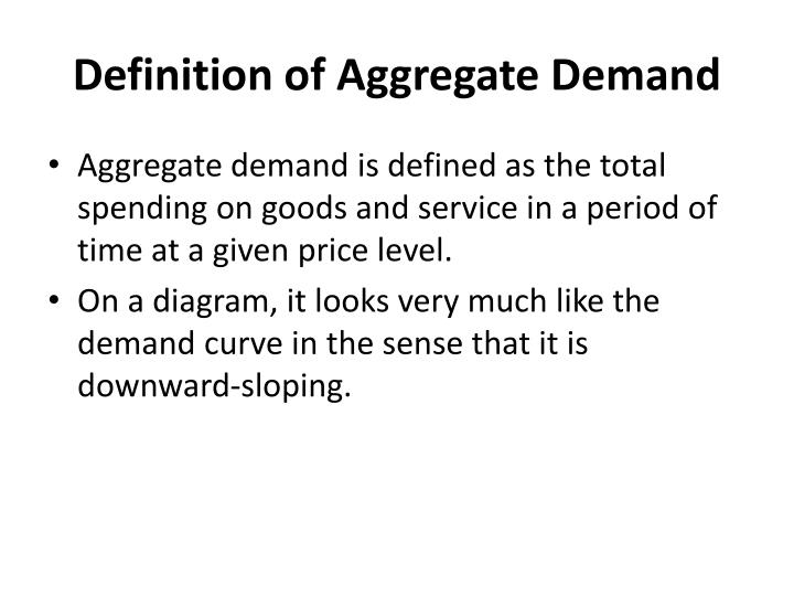 Definition of aggregate demand