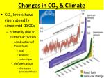 changes in co 2 climate