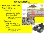 igneous rocks