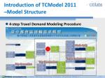 introduction of tcmodel 2011 model structure
