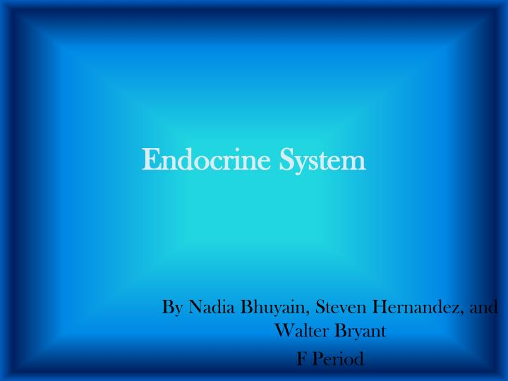 endocrine system 2 essay The endocrine system is a very important part of the anatomy and physiology of the human body knowing and understanding how this system operates and what contributes to its failures can be helpful in understanding how the body contributes to overall health and wellness.