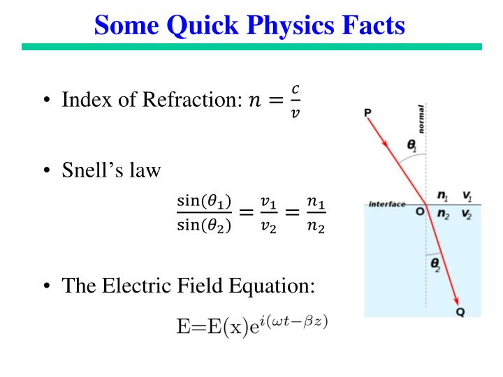 Some Quick Physics Facts