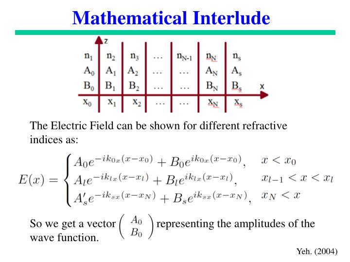 Mathematical Interlude