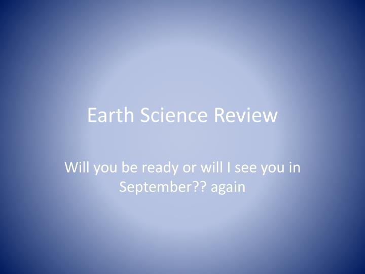 earth science review n.