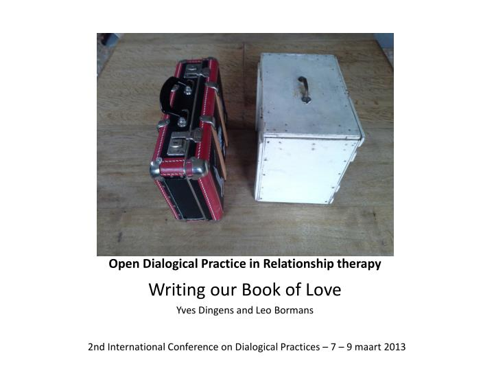 open dialogical practice in relationship therapy n.