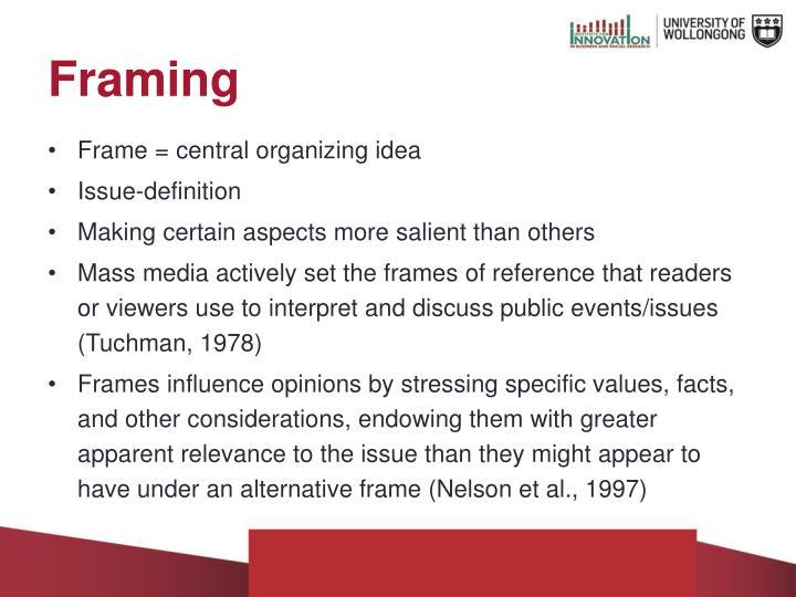 Funky Media Framing Definition Elaboration - Frames Ideas - ellisras ...