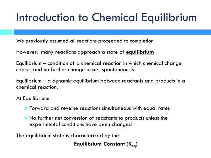 experiment 4 rdr chemical equilibrium essay The free high school science texts: a textbook  1752 equilibrium between no2 and n2o4  needs and the chemical connection (grade 12) 119 essay 1: synthetic.