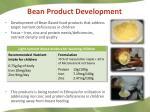 bean product development