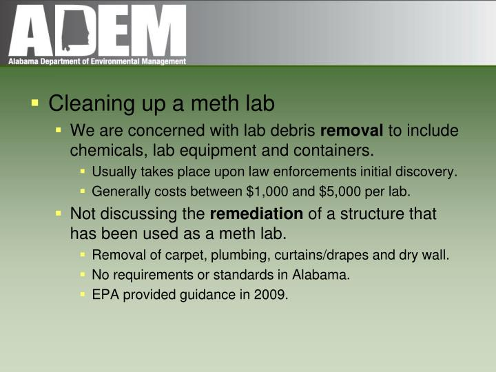 Cleaning up a meth lab