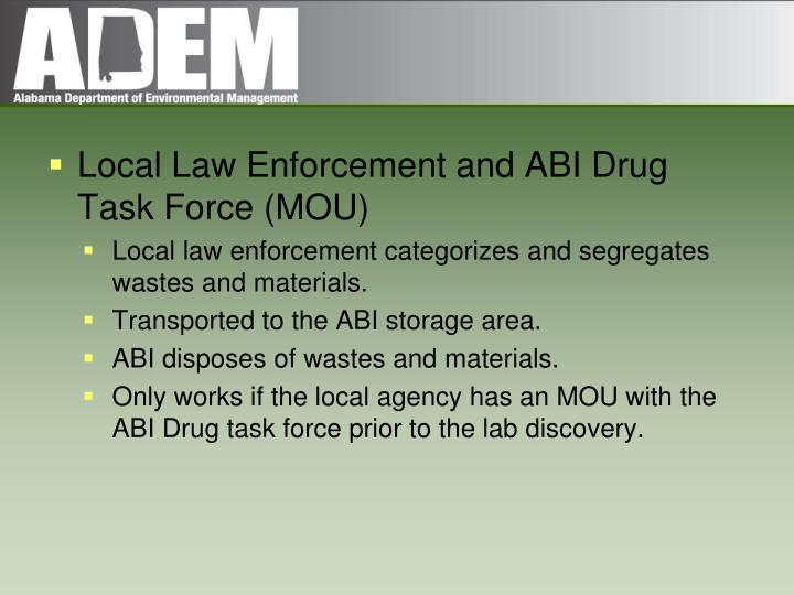 Local Law Enforcement and ABI Drug Task Force (MOU)