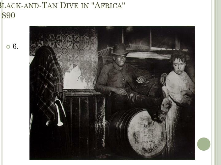 """A Black-and-Tan Dive in """"Africa"""""""