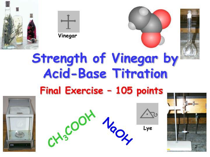what is vinegar acid or base