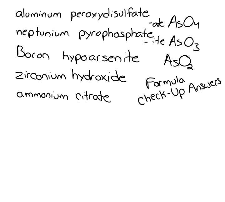 6 hat hydroastatic acid 7 c6h5cooh benzoic acid 8 hg2 io 2 mercury i hypoiodite