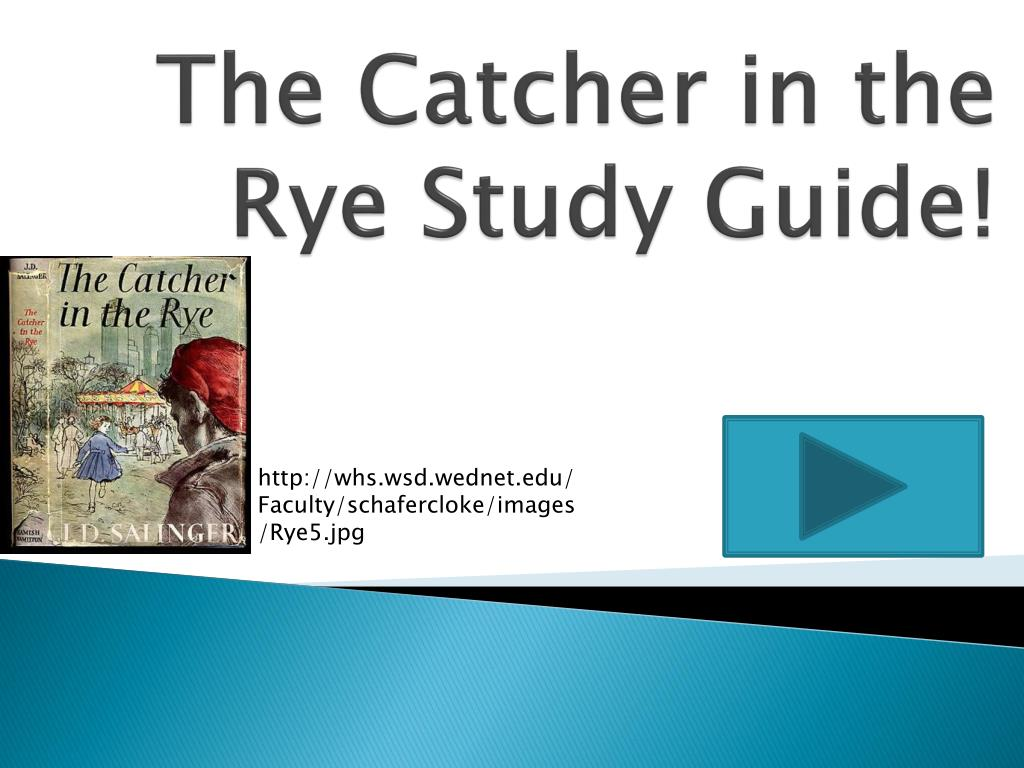 the catcher in the rye study guide n.