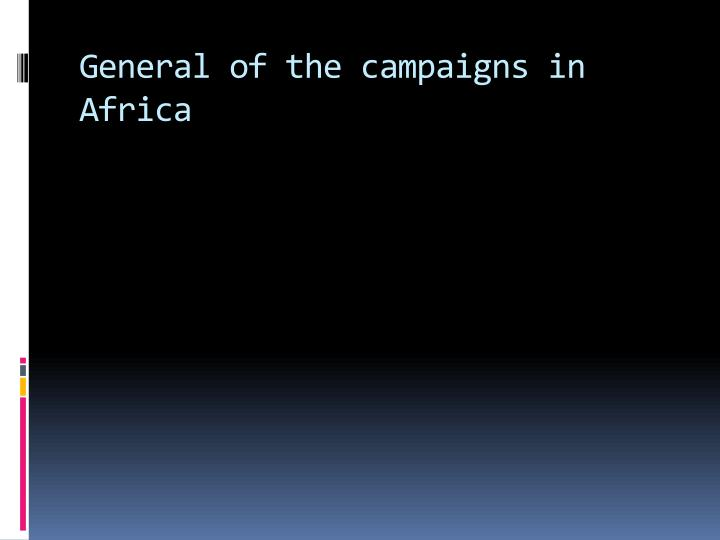 General of the campaigns