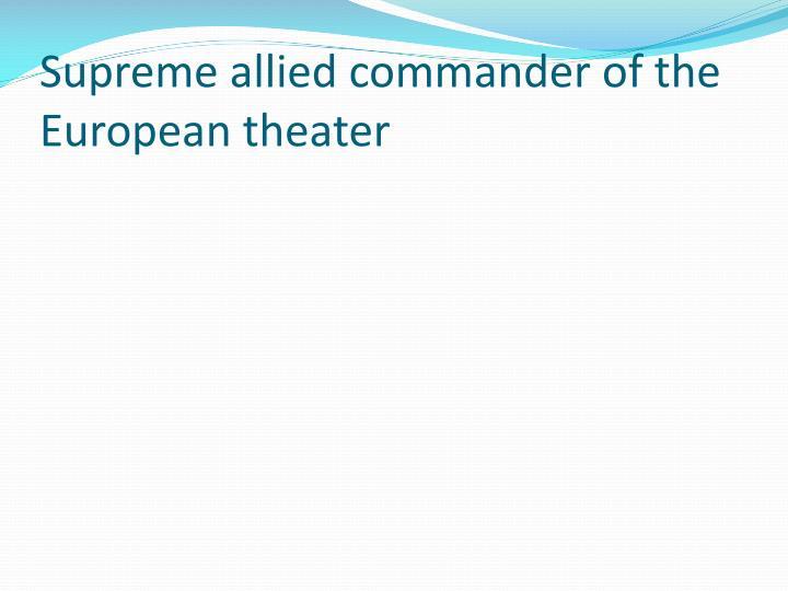 Supreme allied commander