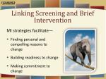 linking screening and brief intervention