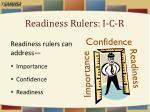 readiness rulers i c r
