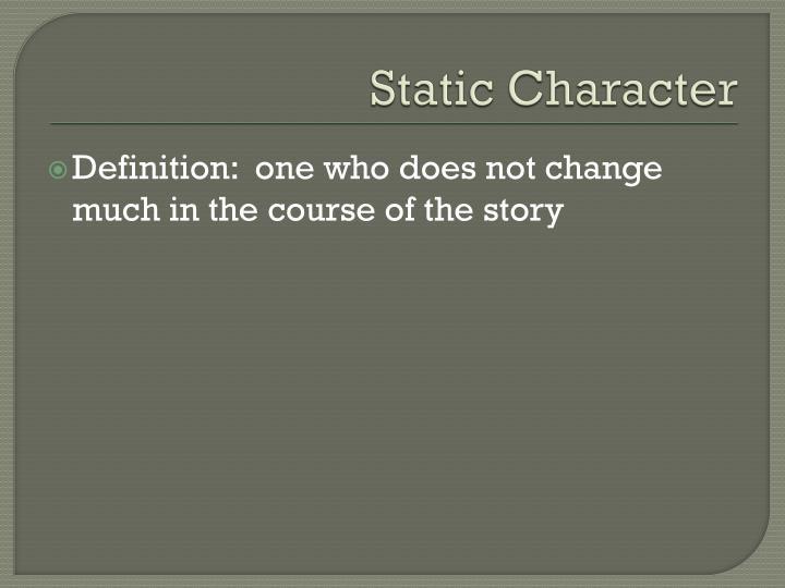 Static Character