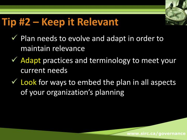 Tip #2 – Keep it Relevant