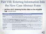 part viii entering information into the new case abstract form19