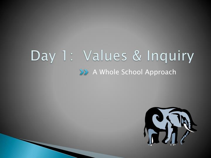 day 1 values inquiry n.