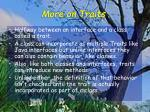 more on traits