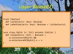 upper bounds 1