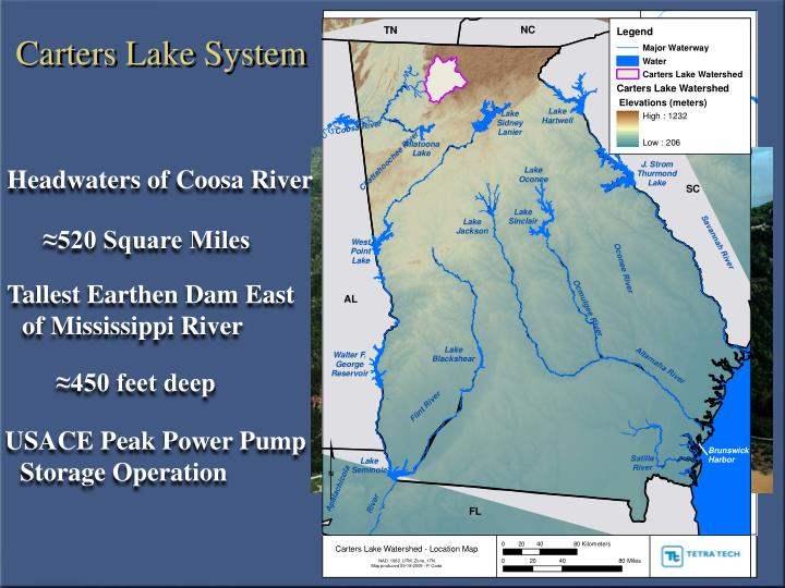 Carters lake system