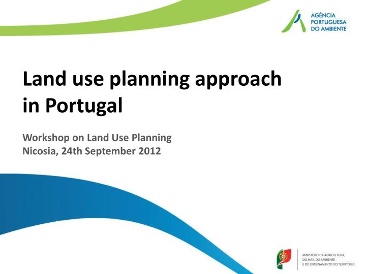 land use planning approach in portugal n.