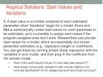 atypical solutions start values and iterations