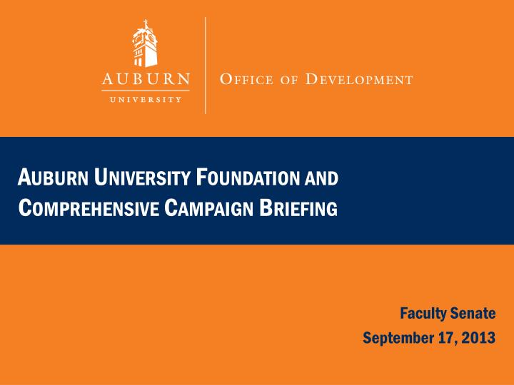 auburn university foundation and comprehensive campaign briefing n.