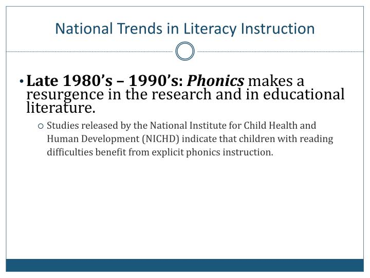 National Trends in Literacy Instruction