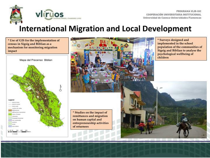 International Migration and Local Development