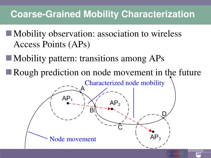 Coarse-Grained Mobility Characterization