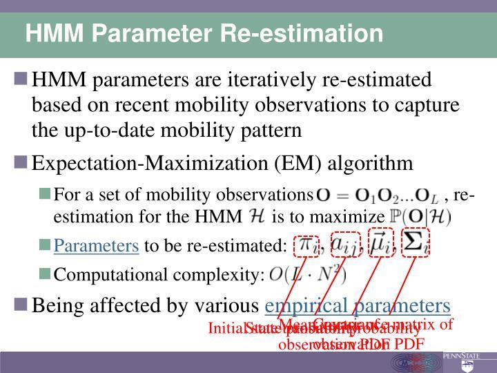 HMM Parameter Re-estimation