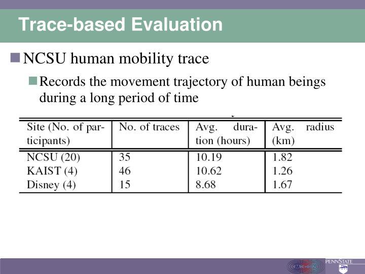 Trace-based Evaluation