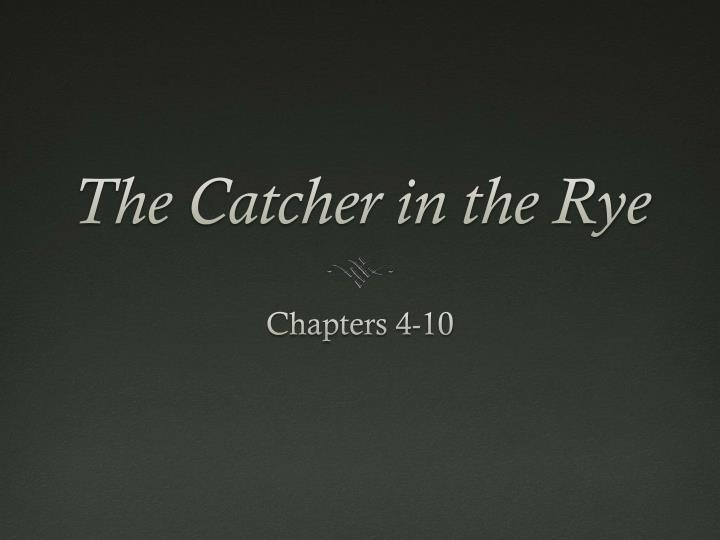 the catcher in the rye n.