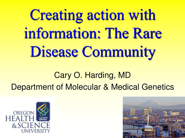 creating action with information the rare disease community n.