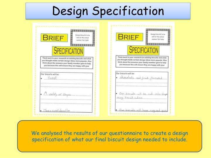 Design Specification