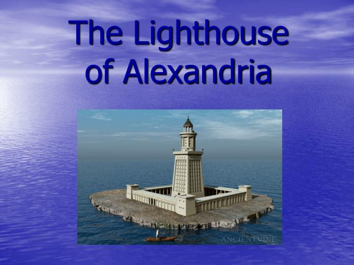 the lighthouse of alexandria n.